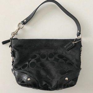 Small Coach Signature Jacquard Handbag